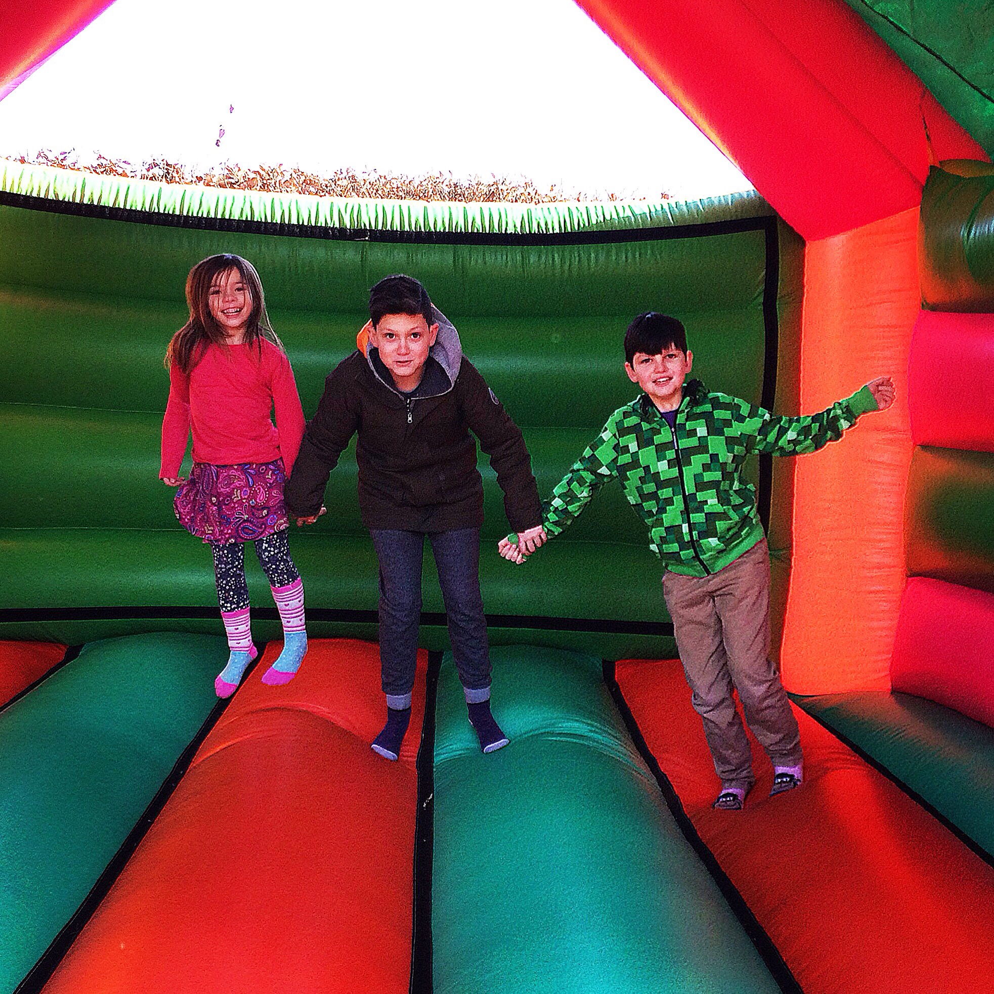 Bouncy castle, family, jumping, happy, Kent, Groombridge