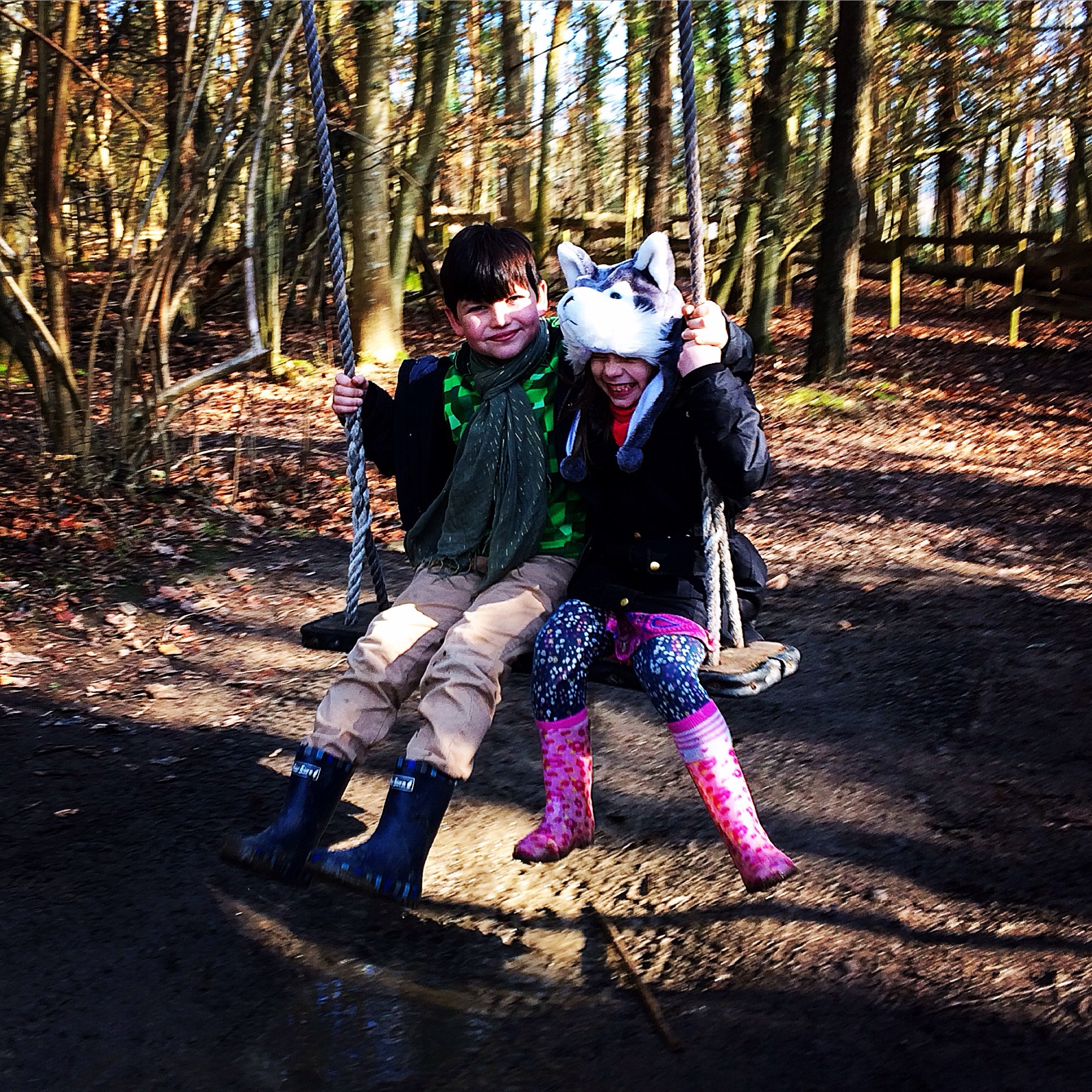 Groombridge place, Kent, family, days out, swing, happy, laughing, children