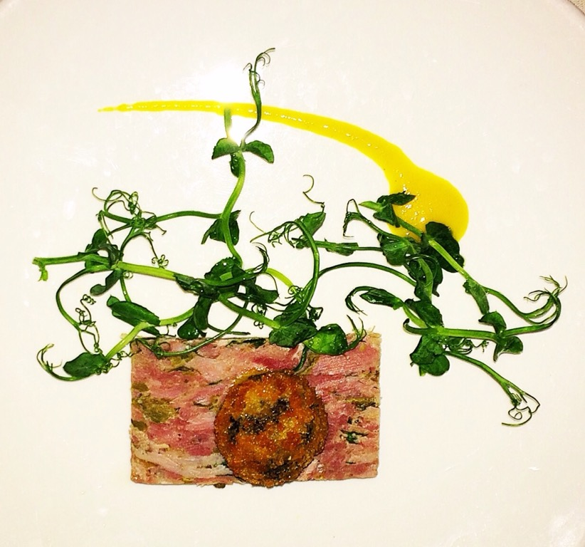 ham hock, black pudding, food, Sussex, restaurant, Michelin